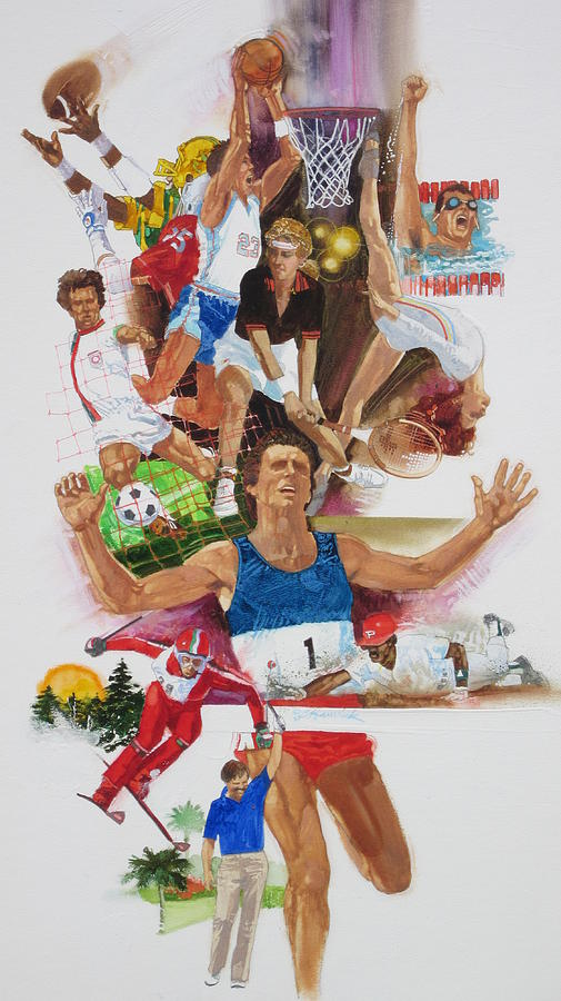 Sports Painting - For Love Of The Games by Chuck Hamrick