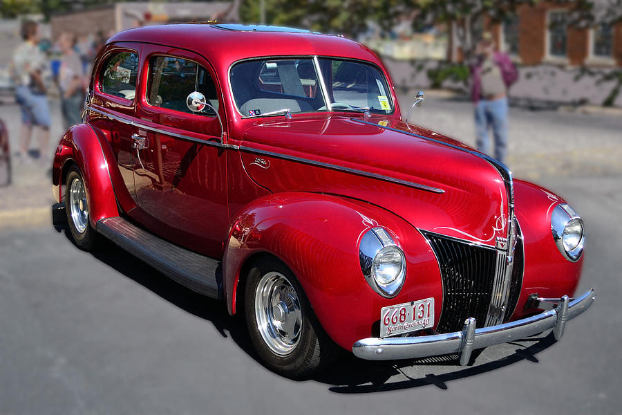Ford Photograph - Ford 40 In Red by Larry Bishop