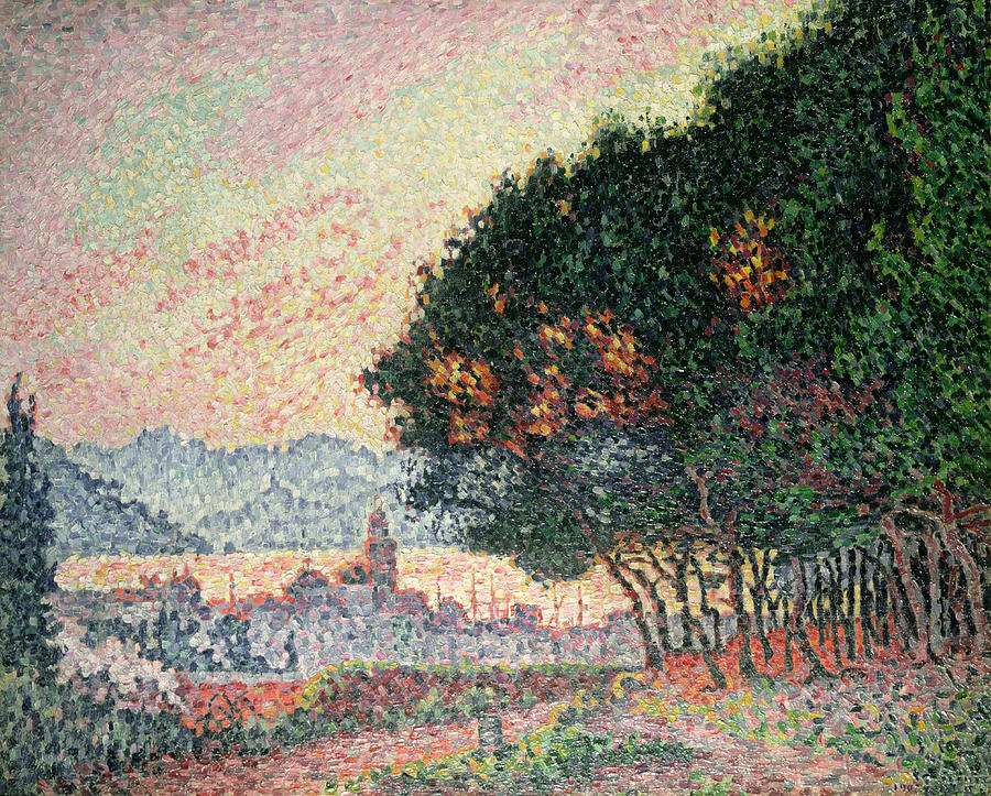 Pointillism Painting - Forest Near St Tropez by Paul Signac