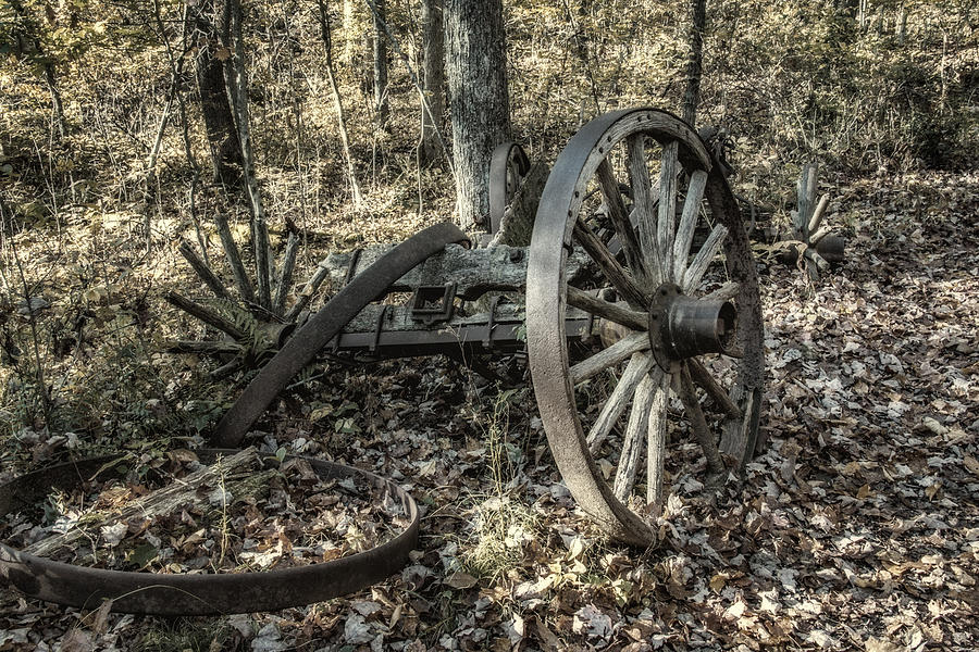 Forgotten Wagon is a photograph by Tom Mc Nemar which was uploaded on ...
