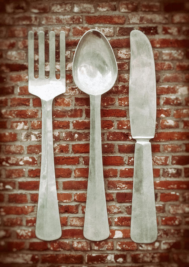 Fork Photograph - Fork Spoon Knife by Wim Lanclus