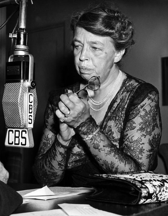 1940s Candid Photograph - Former First Lady Eleanor Roosevelt by Everett