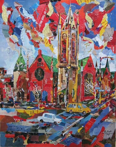 Church Mixed Media - Former First United Church  - Victoria Conservatory Of Music - by Viet Tran