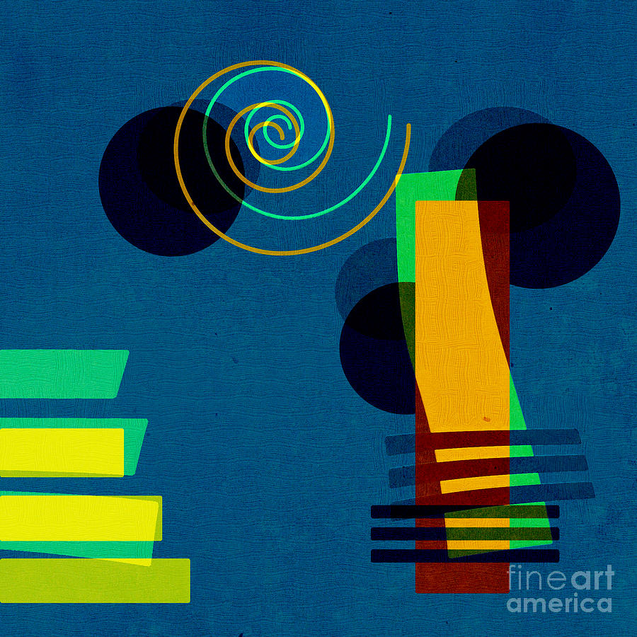 Abstract Digital Art - Formes - 03b by Variance Collections
