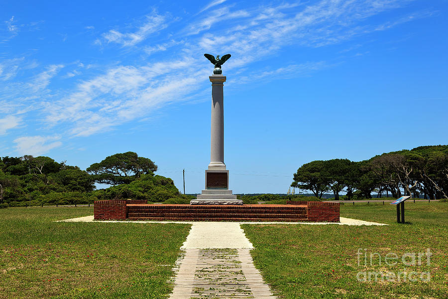 Fort Fisher Confederate Monument Photograph