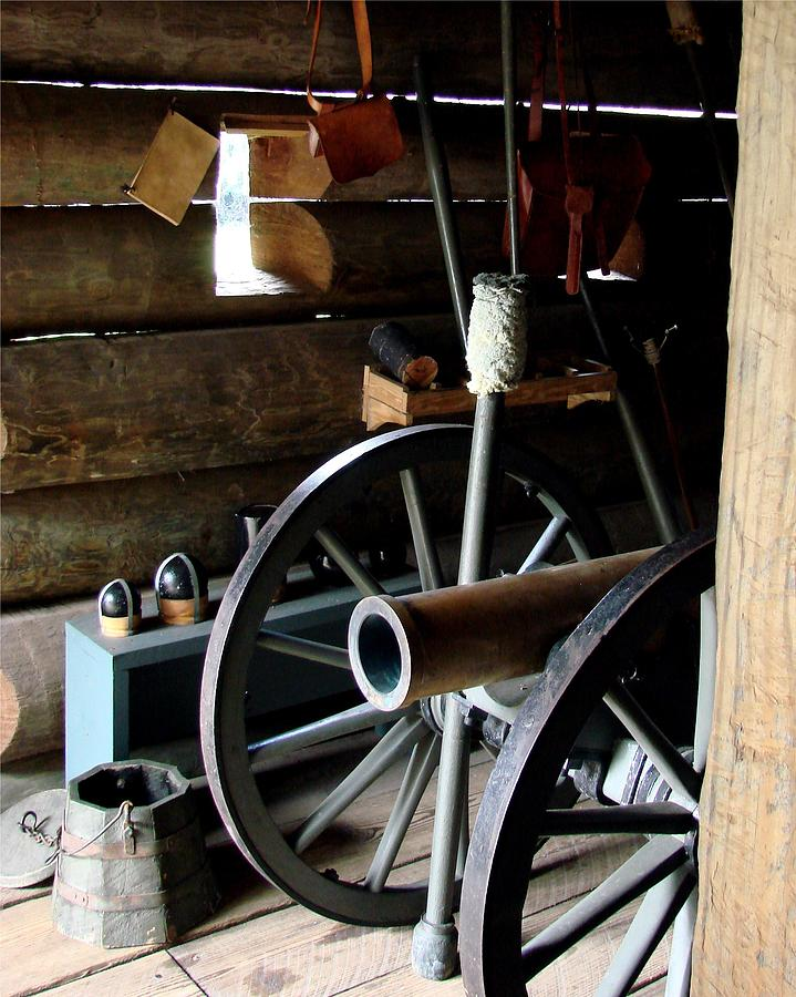Cannon Photograph - Fort Foster Cannon by Kimberly Camacho