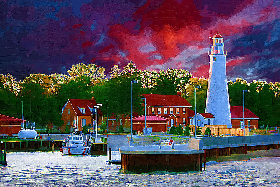 Fort Gratiot Lighthouse Digital Art