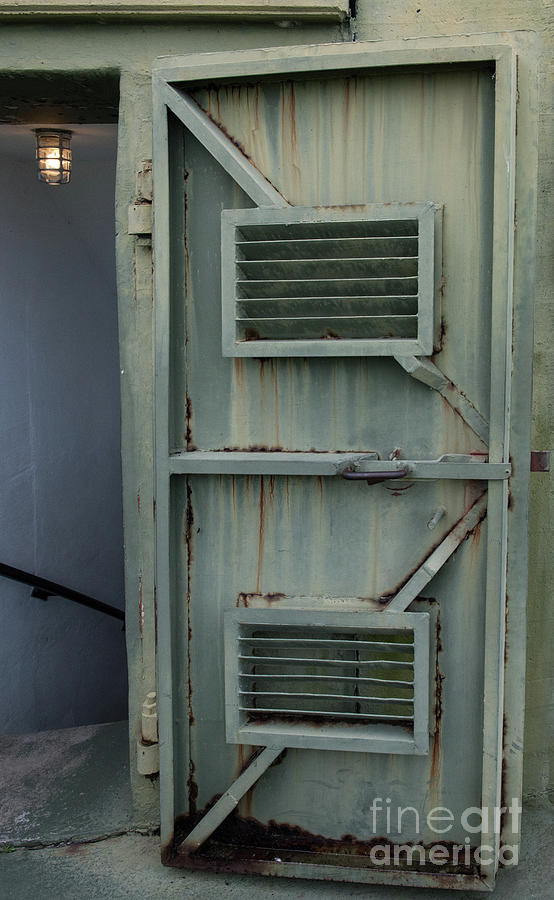 Fort Moultrie Green Metal Door Entrance Photograph