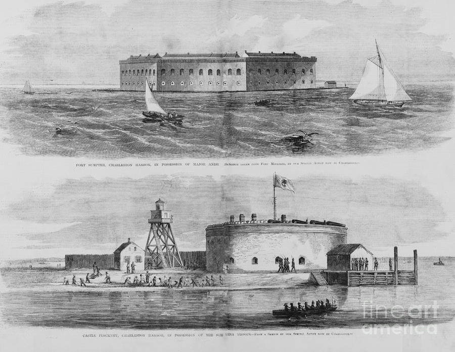 Fort Sumter And Castle Pinckney Photograph