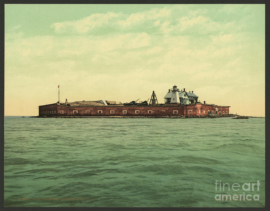 Fort Sumter In 1901 Photograph