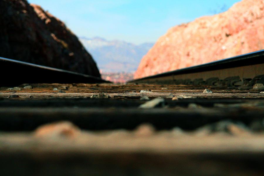 Rails Photograph - Forward Go by Mark  Ross