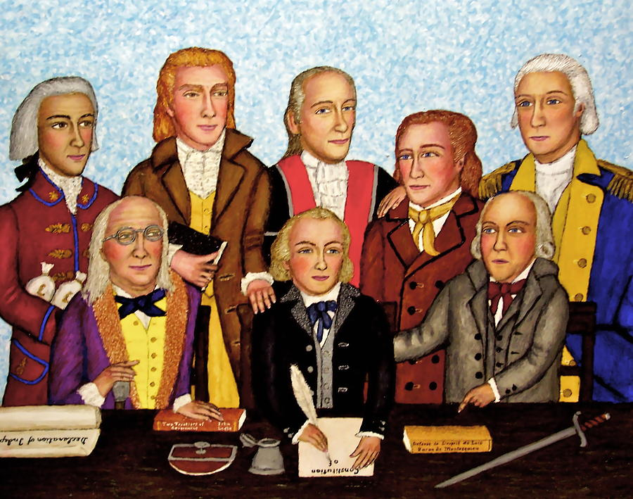Founding Fathers Painting - Founding Fathers Tableau by Stephen Warde Anderson