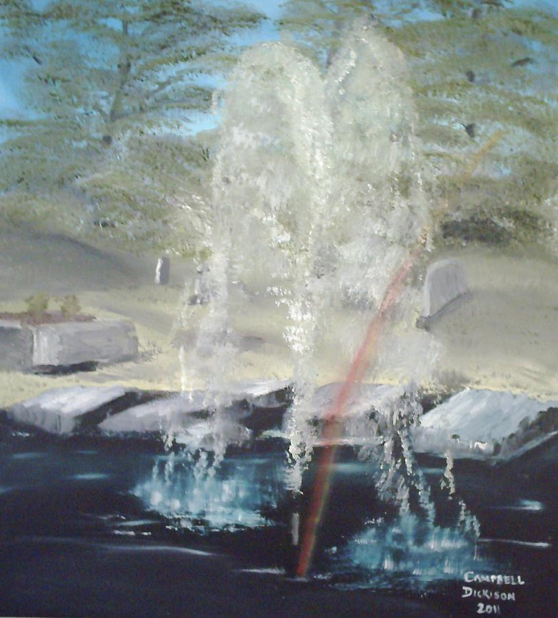 Waterscape Painting - Fountain At Cataraqui by Campbell Dickison