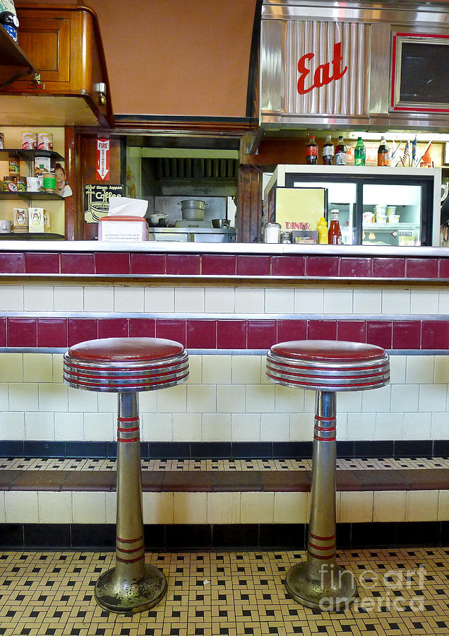 Diner Photograph - Four Aces Diner by Edward Fielding