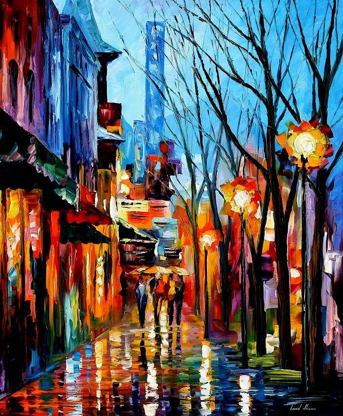 Afremov Painting - Four Friends by Leonid Afremov