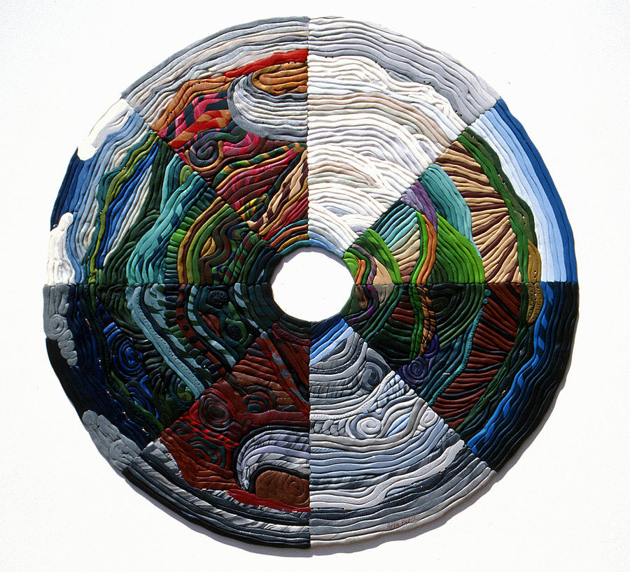 Mandala Relief - Four Seasons - Day And Night by Arla Patch