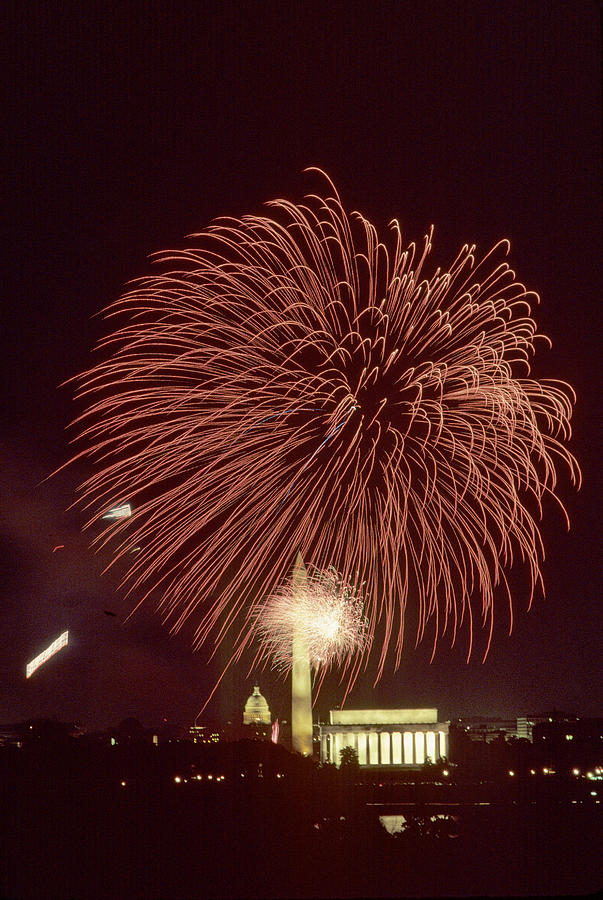 Fourth Of July Fireworks Display Photograph