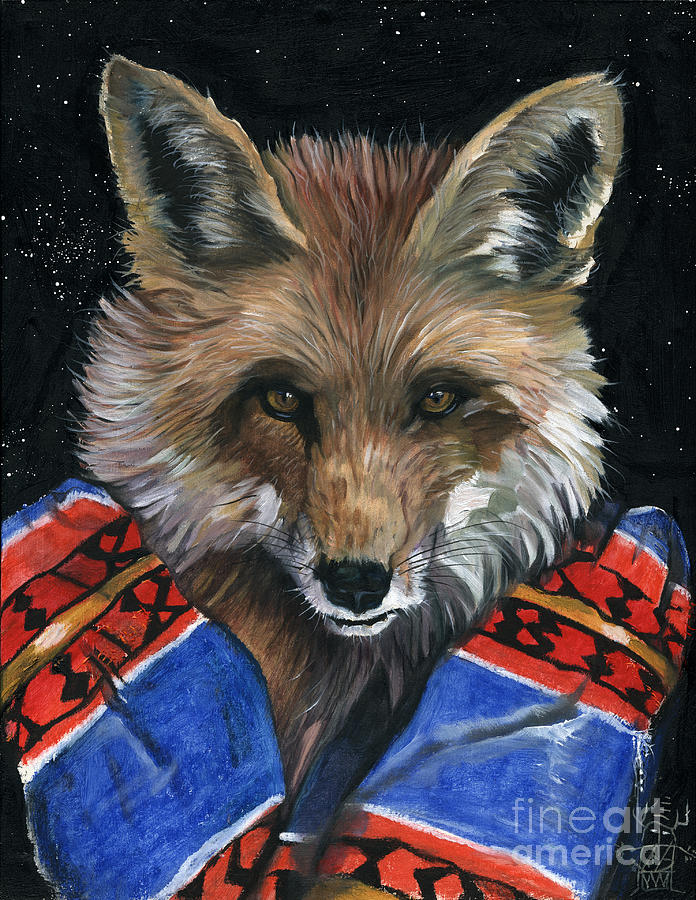 Fox Painting - Fox Medicine by J W Baker
