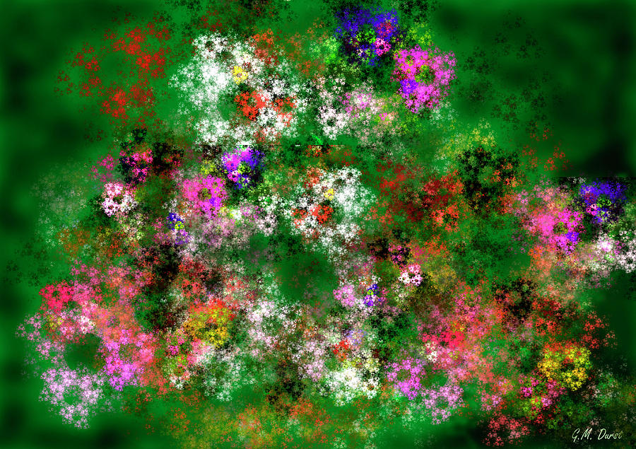Digital Digital Art - Fractal Garden by Michael Durst