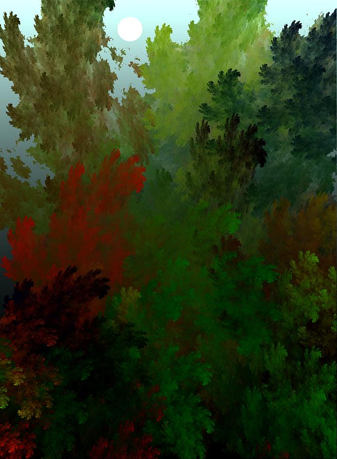 Abstract Digital Painting Digital Art - Fractal Landscape 11-21-09 by David Lane