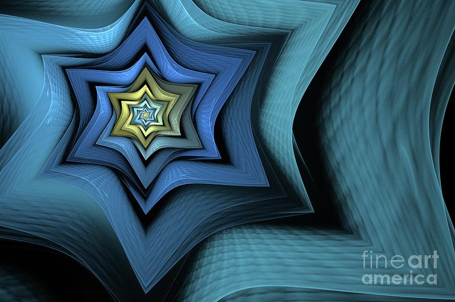 Fractal Digital Art - Fractal Star by John Edwards