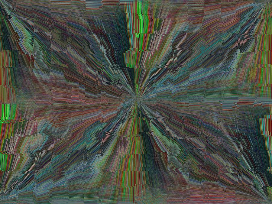 Abstract Digital Art - Fractured Frenzy by Tim Allen