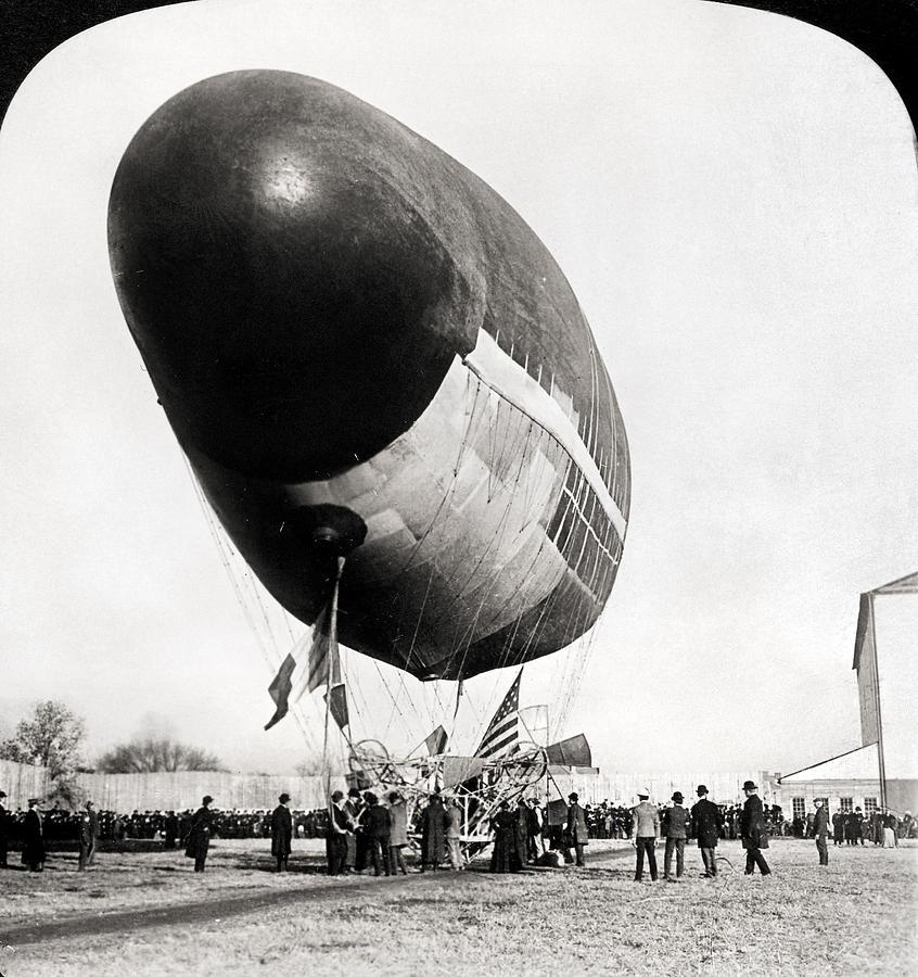 1904 Photograph - Francois Airship, 1904 by Granger