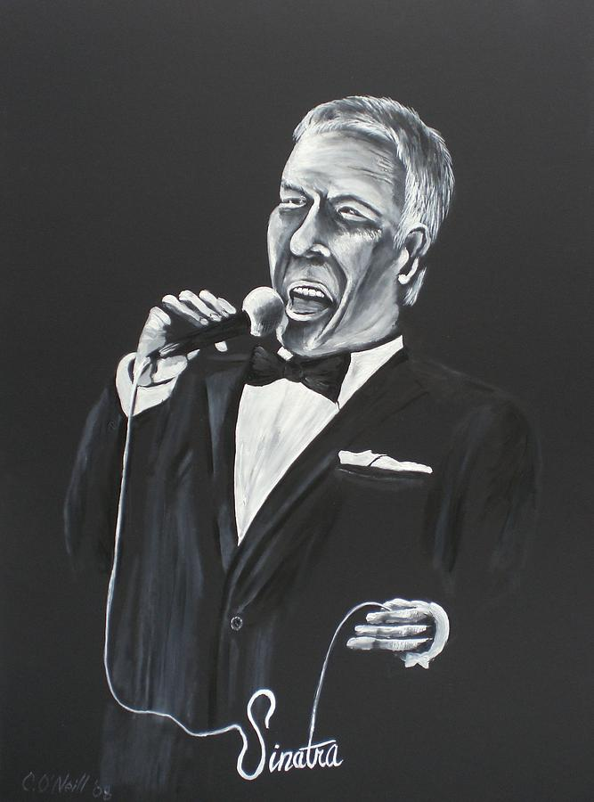 Sinatra Painting - Frank by Colin O neill