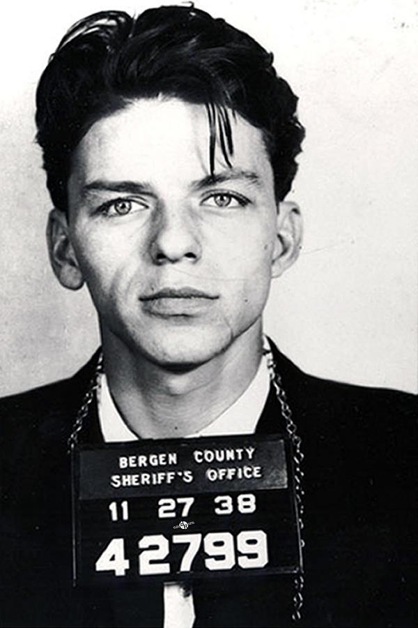 Frank Sinatra Mug Shot Vertical Painting