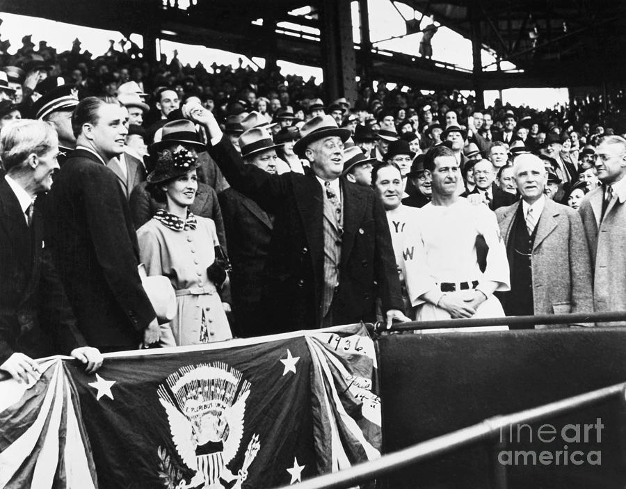 1936 Photograph - Franklin D. Roosevelt by Granger