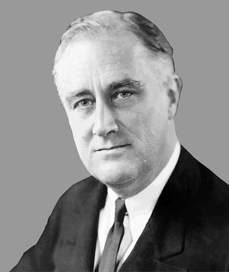Franklin Roosevelt Painting - Franklin Delano Roosevelt by War Is Hell Store