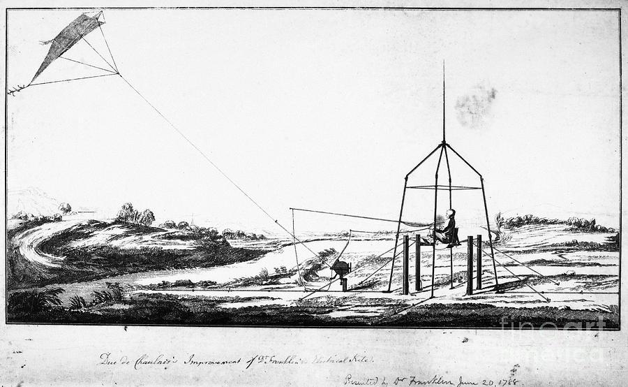 1788 Photograph - Franklin: Kite, 1788 by Granger