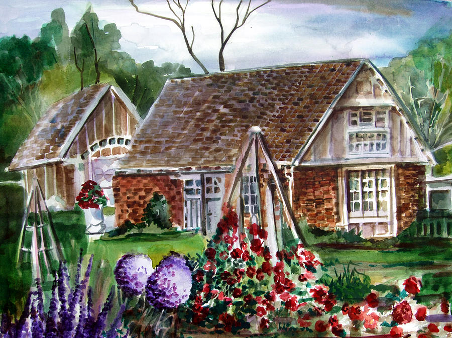 Watercolor Painting - Franklin Park Conservatory Education Pavilon by Mindy Newman