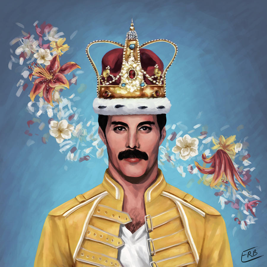 Freddie Mercury Painting By Emily Rose Bone