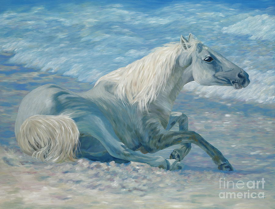 Seascape Painting - Free Spirit by Danielle  Perry