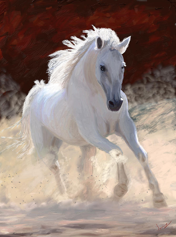 Horse Painting - Free Spirit by James Shepherd