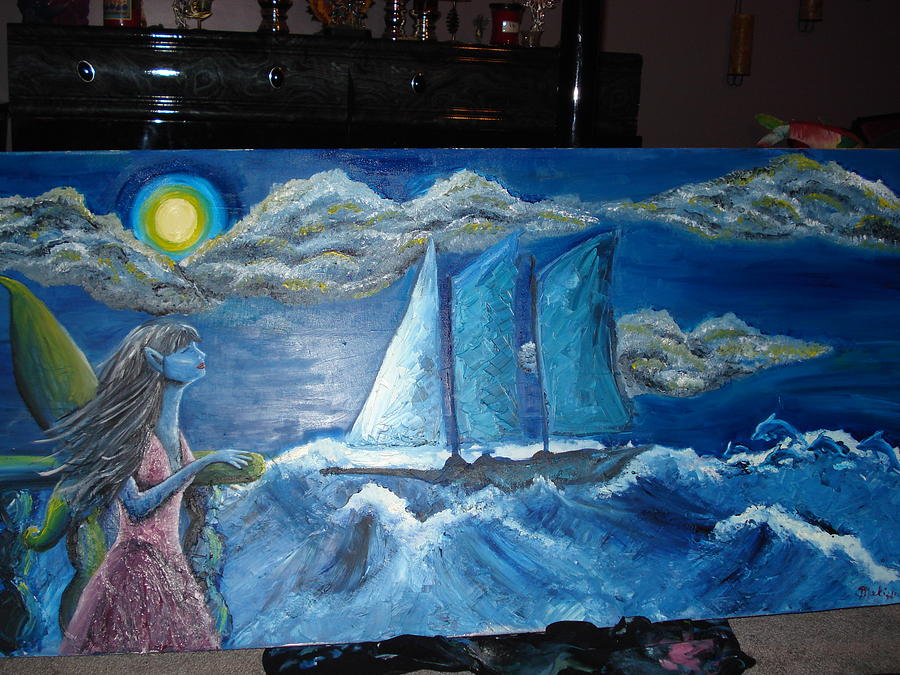 Fantasy Lanscape Painting - Freedom From The Storm by Melissa Priorello