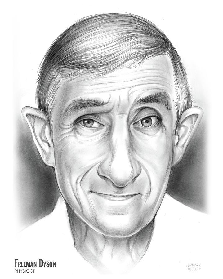 Freeman Dyson Drawing