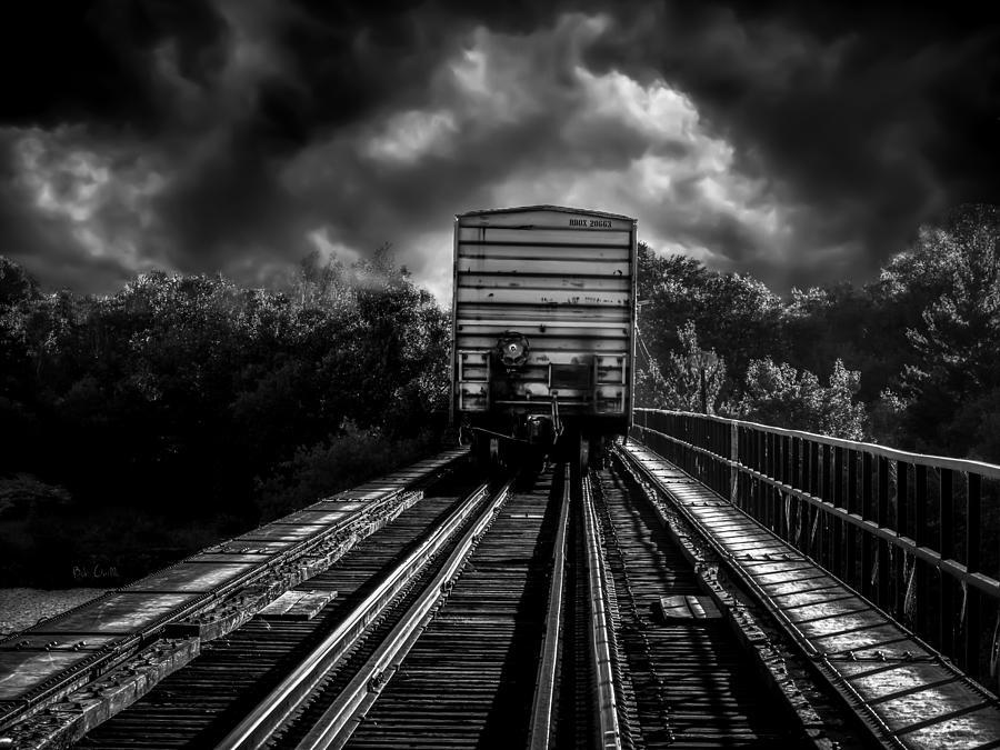 Train Photograph - Freight Train Blues by Bob Orsillo