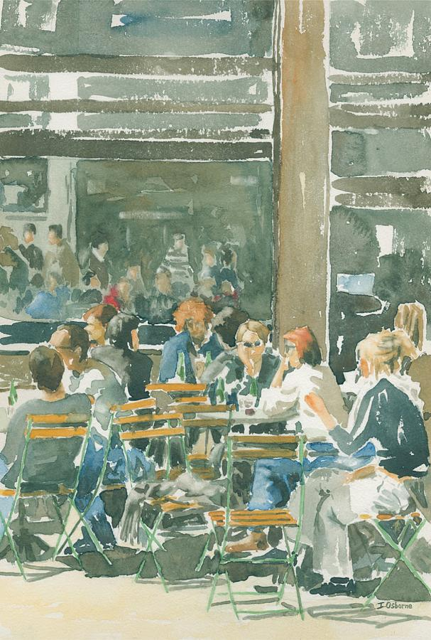 Watercolour Painting - French Cafe Scene  by Ian Osborne