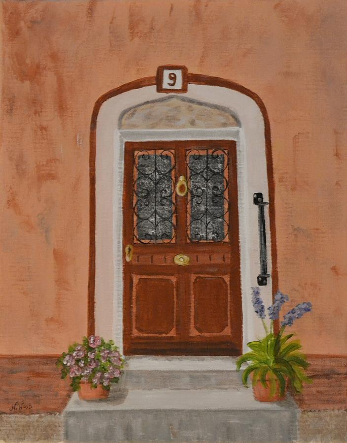 France Painting - French Door Number Nine  by Nancy Otey