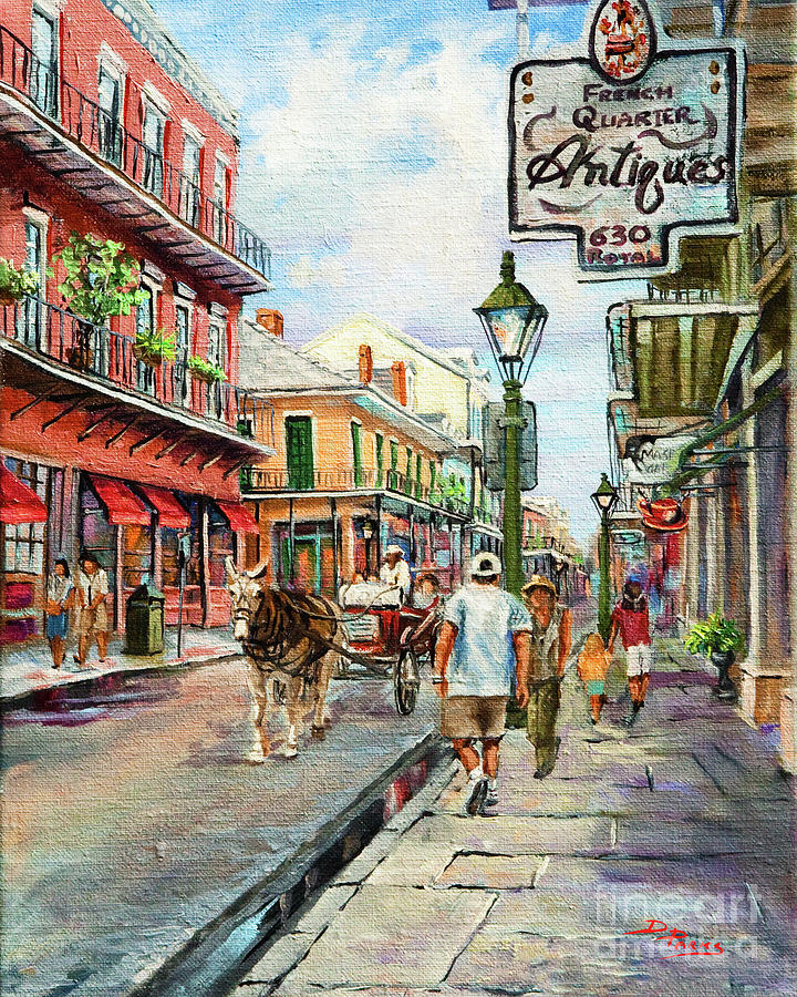 Royal Street Painting - French Quarter Antiques by Dianne Parks