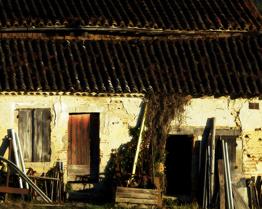 French Shed At Sunset Photograph