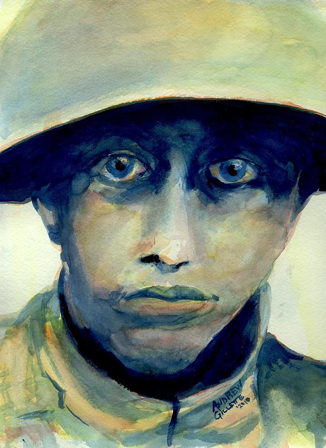World War One Painting - Fresh From The Front Line by Andrew Gillette