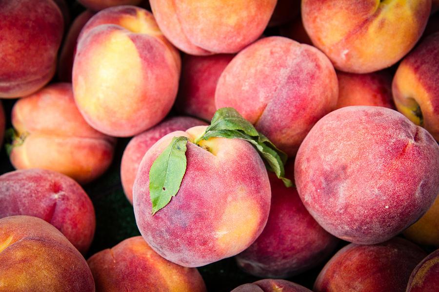 Fresh Photograph - Fresh Peaches by Dina Calvarese