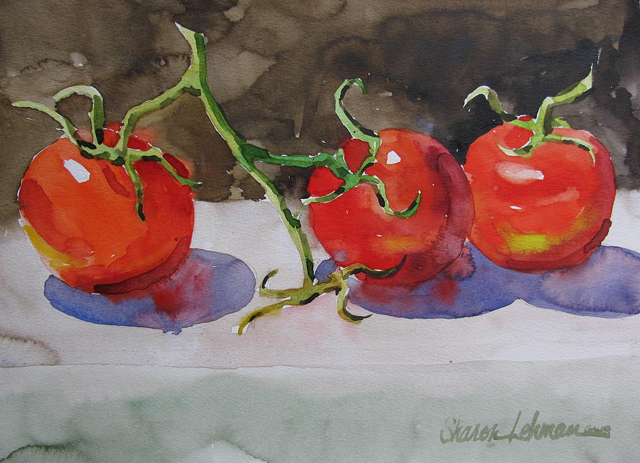 Tomatos Painting - Fresh Picked by Sharon Lehman
