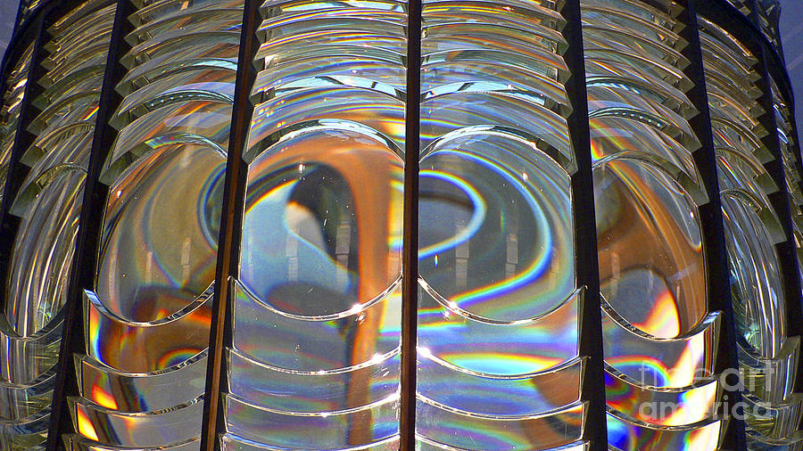 Lighthouse Photograph - Fresnel Lens by Larry Keahey