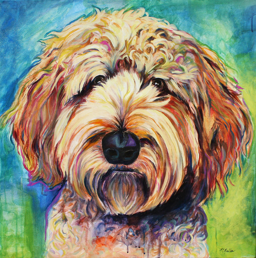 Fresno The Goldendoodle Painting By Christy Mullen