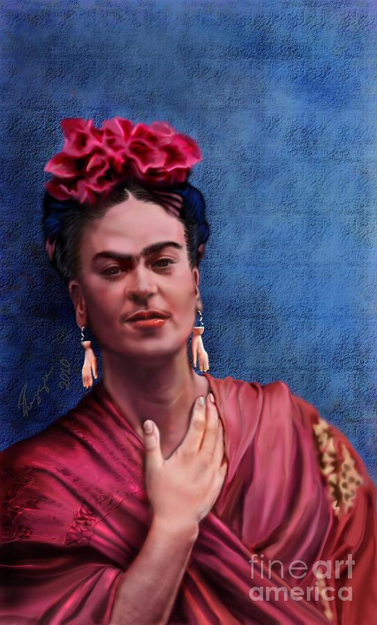 Frida- Beyond Flesh Painting by Reggie Duffie Hispanic Painters Famous