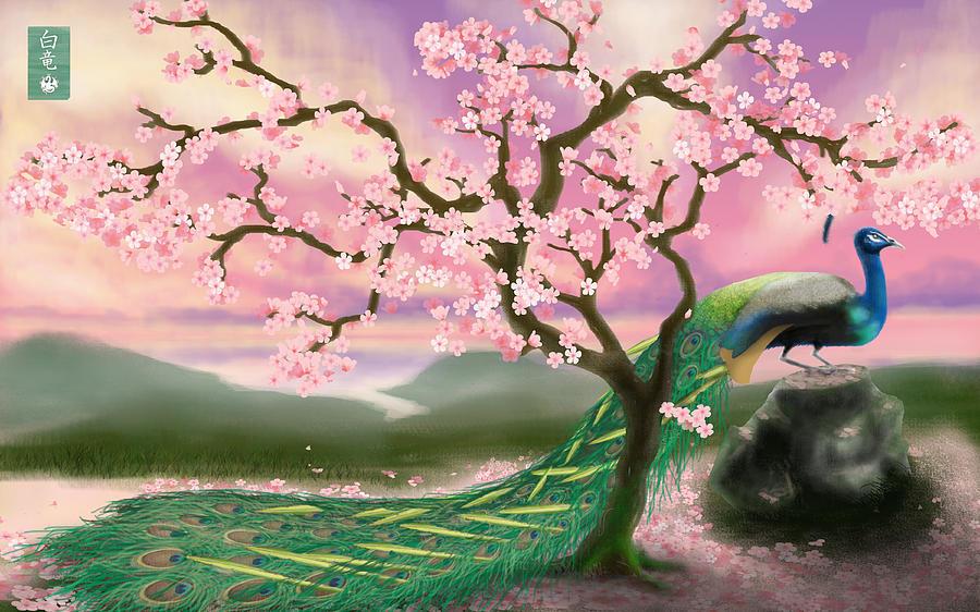 Peacock Digital Art - From The Heart by Devaron Jeffery